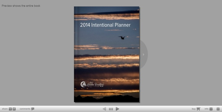 2014 Intentional Planner Preview on Blurb.com