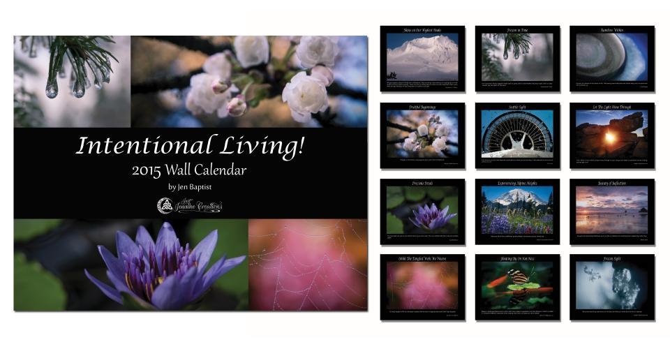Intentional Living! 2015 Wall Calendar